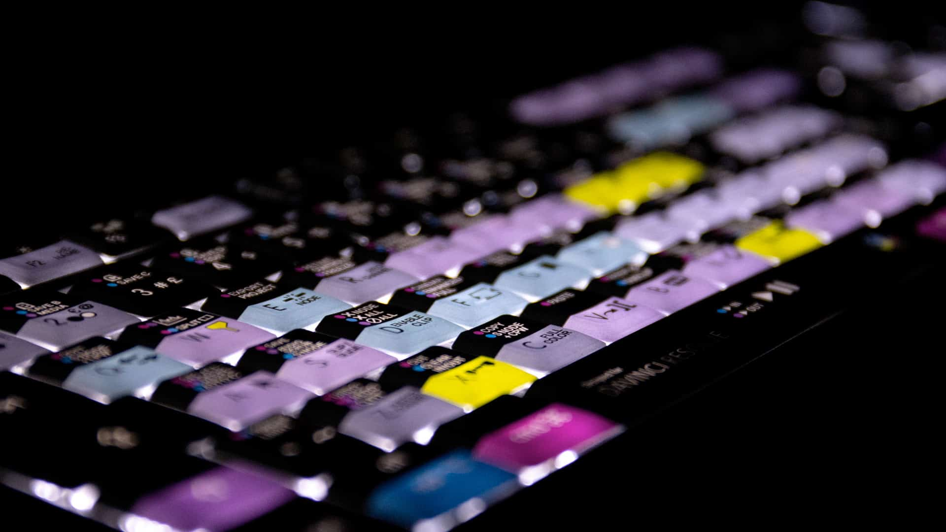 color grading theatre keyboard